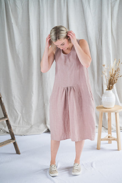 Traveller Tunic - Linen in Dusty Rose - Matta Clothing