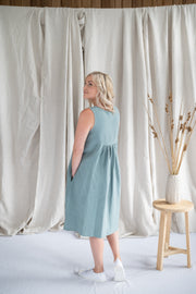 Traveller Tunic - Linen in Mint - Matta Clothing