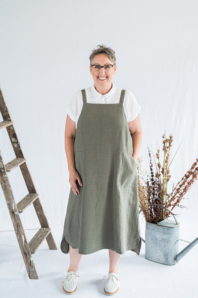 Sunday Dress - Sage Washed Linen - Matta Clothing