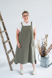 Sunday Dress - Sage Washed Linen - Matta Clothing - Australian Clothes Designer - mattaclothing.com.au