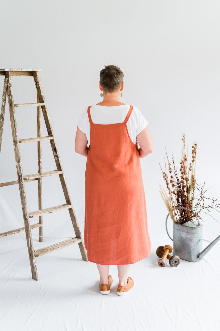 Sunday Dress - Linen in Paprika - Matta Clothing - Australian Clothes Designer - mattaclothing.com.au