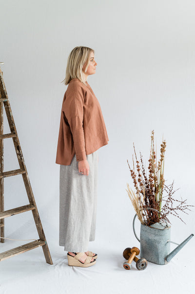 Editor Linen Shirt - Clay - Matta Clothing