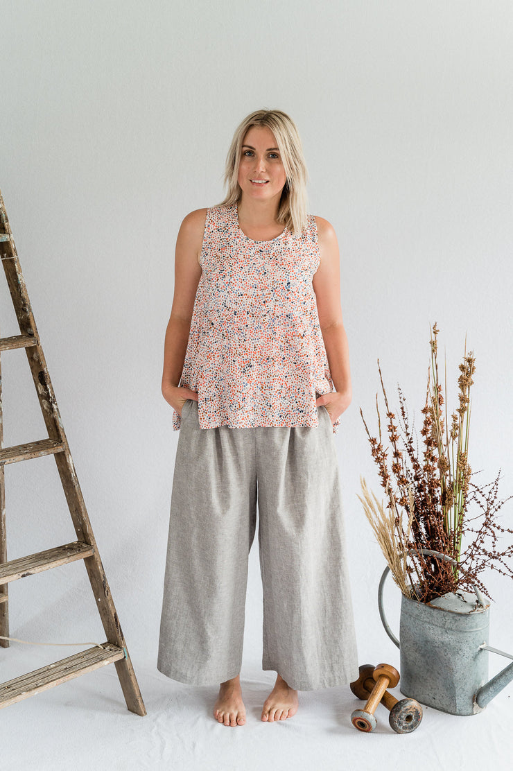 Coastal Pant - Cotton in Nickel - Matta Clothing - Australian Clothes Designer - mattaclothing.com.au