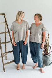 Gallery Pant - Linen in Ash Blue - Matta Clothing