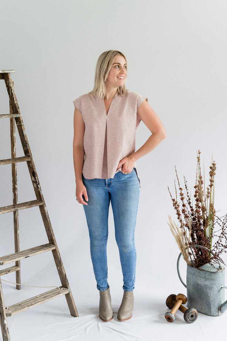 Lotus Top - Cotton in Blush - Matta Clothing