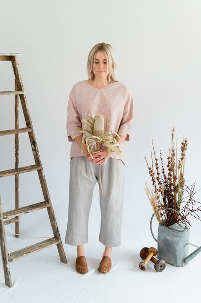 Field Top- Cotton in Blush - Matta Clothing - Australian Clothes Designer - mattaclothing.com.au