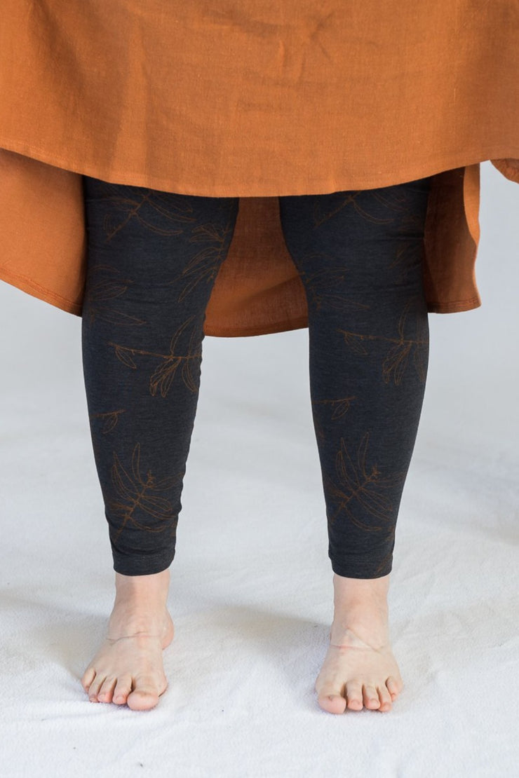 Our Model is wearing the Travel Pants - Charcoal/Ochre by Matta Clothing Australia.