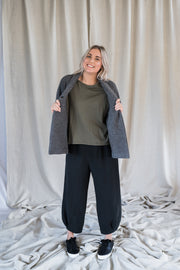 Cleo Cardigan - Charcoal - Matta Clothing