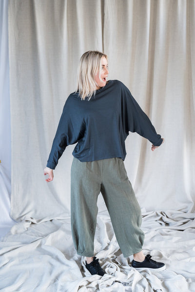 Batwing Merino - Blue/Grey - Matta Clothing