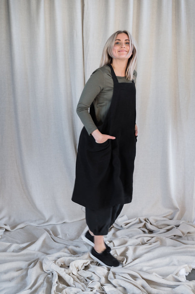 Linen Apron - Washed Black - Matta Clothing