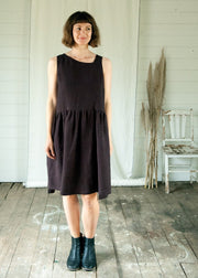 Meadow Dress - Smoky Black - Matta Clothing - Australian Clothes Designer - mattaclothing.com.au