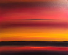 "Load image into Gallery viewer, ""Crimson Sunset"" Oil on Canvas"