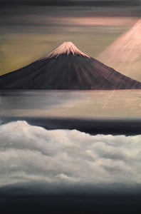 """Mount Fuji"" Oil on Canvas"