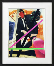 "Load image into Gallery viewer, ""Men in Suits"" Collage on Paper"