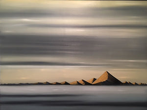 """Midnight Sun Iceland"" Oil on Canvas"