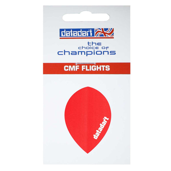 Datadart CMF-23 Red Pear Shape Flights - 100 Micron
