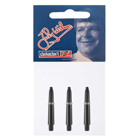 Datadart Jocky Wilson Dart Shafts - Extra Short Black 28mm