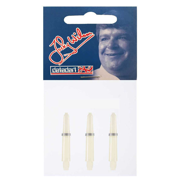 Datadart Jocky Wilson Dart Shafts - Extra Short White 28mm