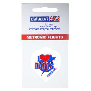Datadart I Love Darts M-008 Standard Shape Metronic Flights