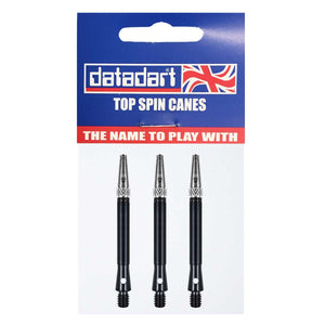 Datadart Top Spin Anti-Deflection Shafts - Medium Black