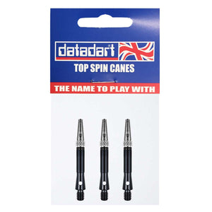 Datadart Top Spin Anti-Deflection Shafts - Short Black
