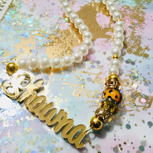 tanya-sopretty - Full Name Gold Mirror Monogrammed Necklace - Necklace