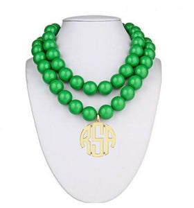St. Barth's Beaded Monogram Necklace