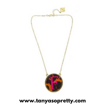 Load image into Gallery viewer, tanya-sopretty - Gretchen Monogram Tortoise Enamel Necklace - Necklace