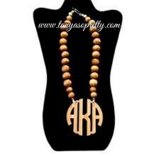 "Load image into Gallery viewer, Bamboo 2.5"" Block Monogram Necklace"