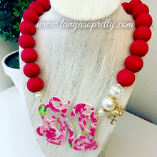 Load image into Gallery viewer, Your Custom Preppy Monogram Necklace Gift Ideas 3.8""