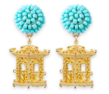 Load image into Gallery viewer, tanya-sopretty - Pagoda Earrings Aqua - Necklace