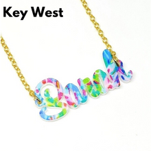 Load image into Gallery viewer, tanya-sopretty - Avalon Printed Name Plate Necklaces - Necklace