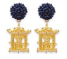 Load image into Gallery viewer, tanya-sopretty - Pagoda Earrings Navy - Necklace