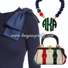 Load image into Gallery viewer, Your Custom Preppy Monogram Necklace Gift Ideas 5.0