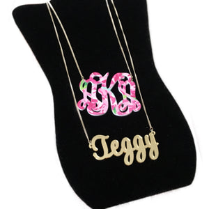 tanya-sopretty - Avery Floral Monogram Necklace - Necklace