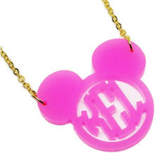 Load image into Gallery viewer, Mouse Ears Block Monogram Necklace