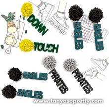 Load image into Gallery viewer, Pom Pom Team Earrings
