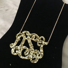 "Load image into Gallery viewer, tanya-sopretty - Avery Gold Sparkle Monogram Necklace 3"" - Necklace"