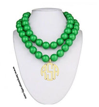 Load image into Gallery viewer, St. Barth's Beaded Monogram Necklace