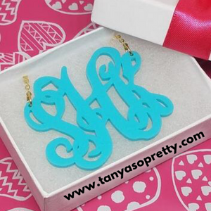 Leigh Caribbean Monogram Necklaces