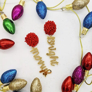 Pom Pom Holiday Earrings