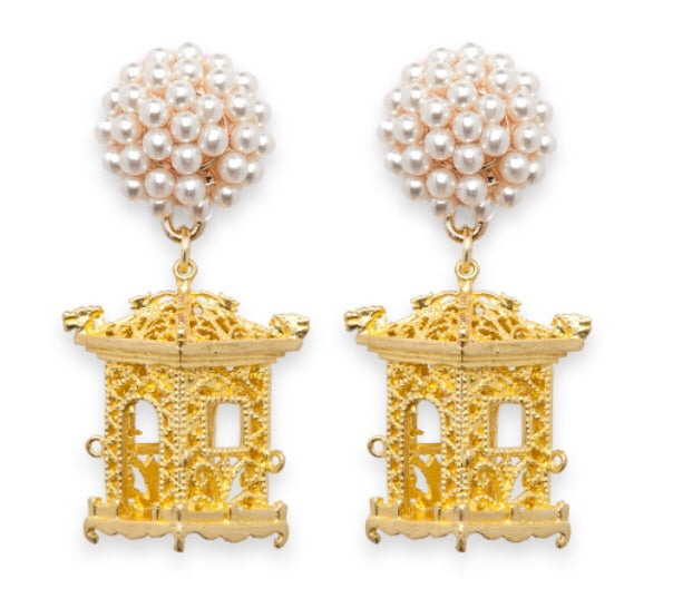 tanya-sopretty - Pagoda Earrings White Pearl - Earrings