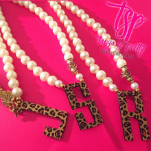 Load image into Gallery viewer, tanya-sopretty - Single Initial Leopard Monogram Necklace - Necklace
