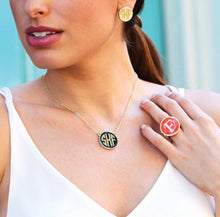 Load image into Gallery viewer, tanya-sopretty - Monogram Stretch Ring Pink - Ring