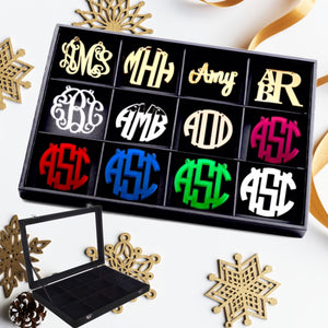 Holly Jolly Monogram Necklace Jewelry Box