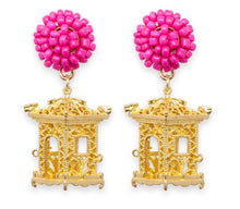Load image into Gallery viewer, tanya-sopretty - Pagoda Earrings Pink - Necklace