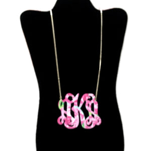 Avery Floral Monogram Necklace