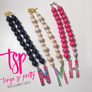 tanya-sopretty - Single Initial Natural Floral Monogram Necklace - Necklace