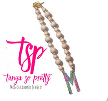 Load image into Gallery viewer, tanya-sopretty - Single Initial Natural Floral Monogram Necklace - Necklace