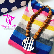 "Load image into Gallery viewer, tanya-sopretty - Bamboo 2.5"" Block Monogram Necklace - Necklace"